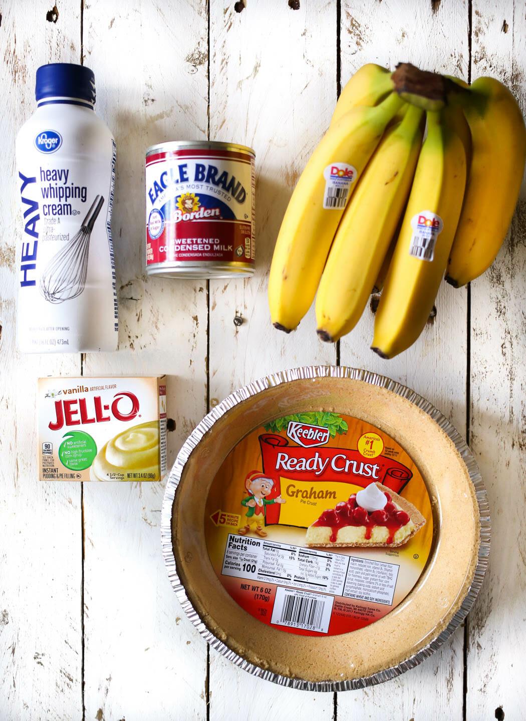 easiest best banana cream pie ingredients