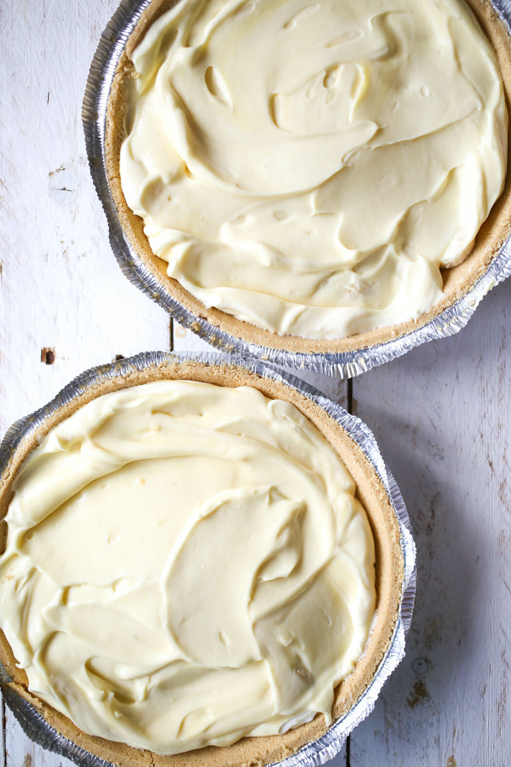 dividing pudding mixture among easiest best banana cream pie