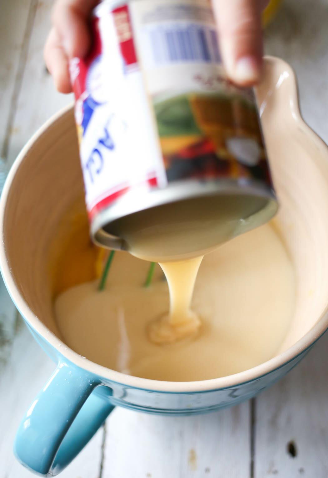 adding sweetened condensed milk