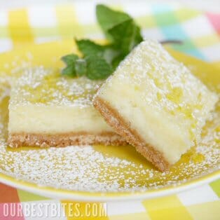 Creamy Lemon {or Lime!} Bars