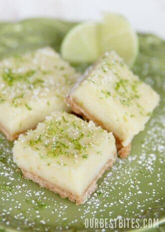 Creamy Lemon {or Lime!} Bars - Our Best Bites