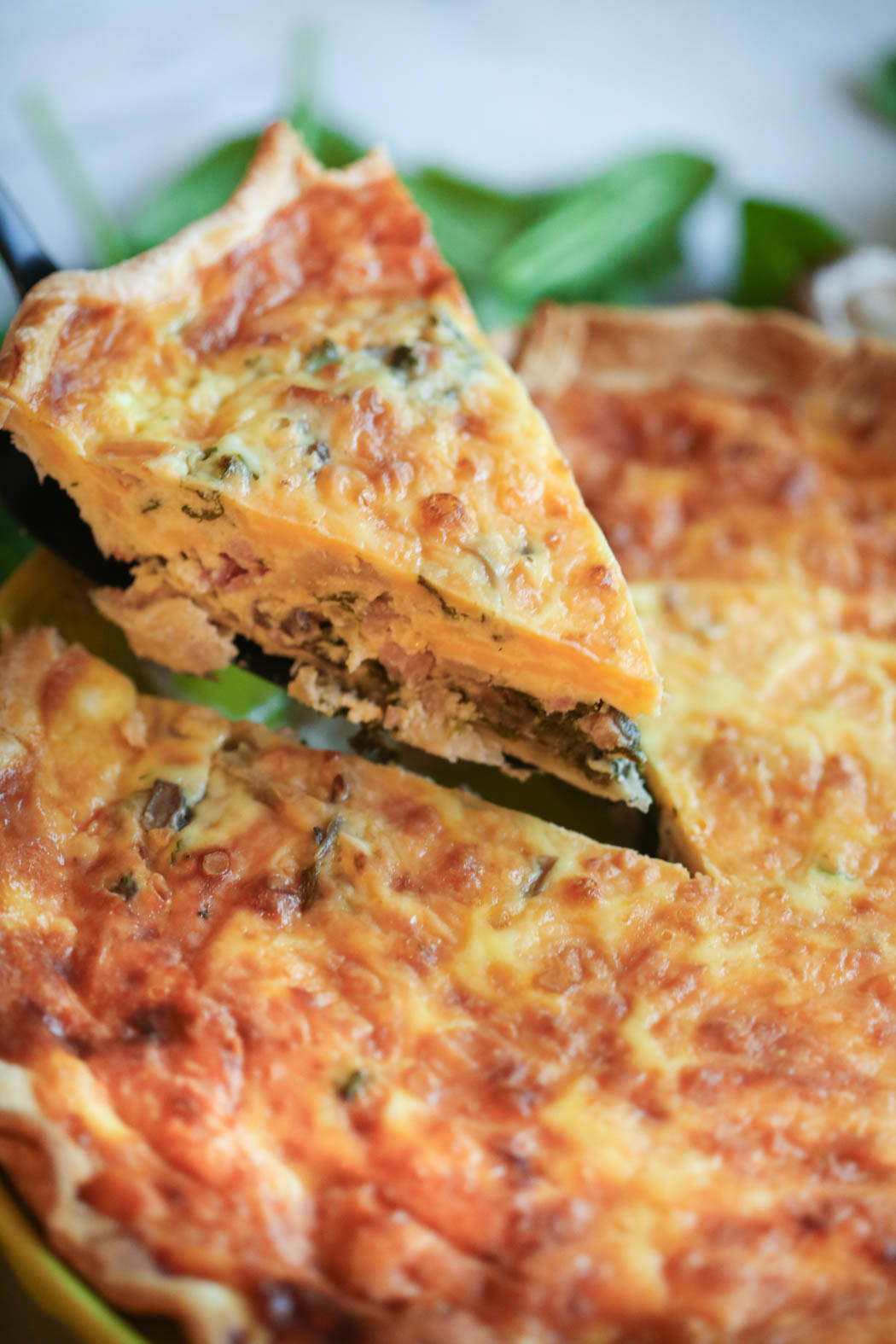 sliced ultimate quiche from our best bites