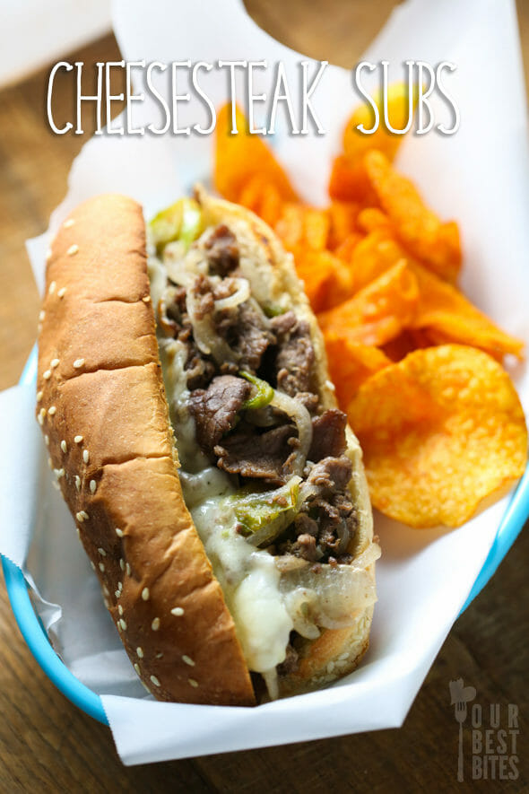Cheesesteak Subs from Our Best Bites