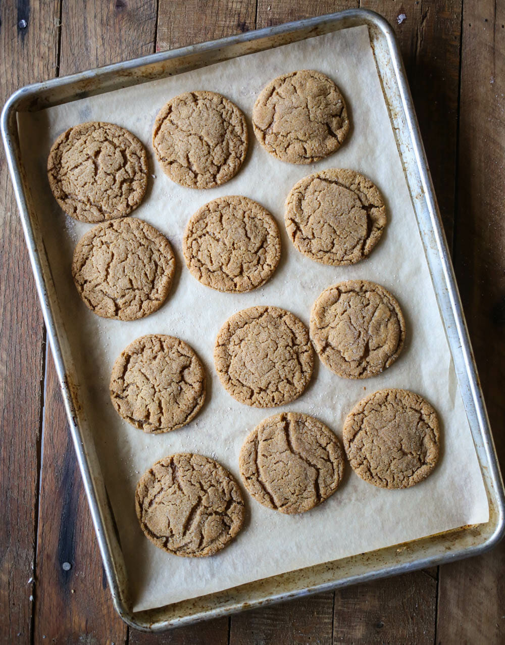 baked ginger spice cookies