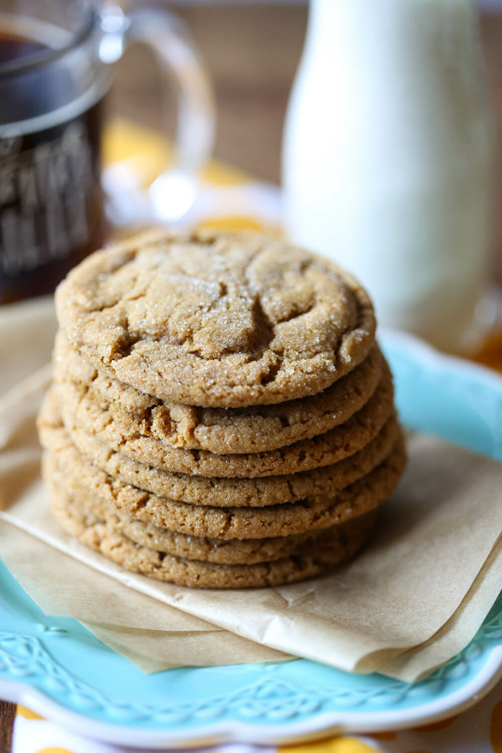 stacked ginger spice cookies