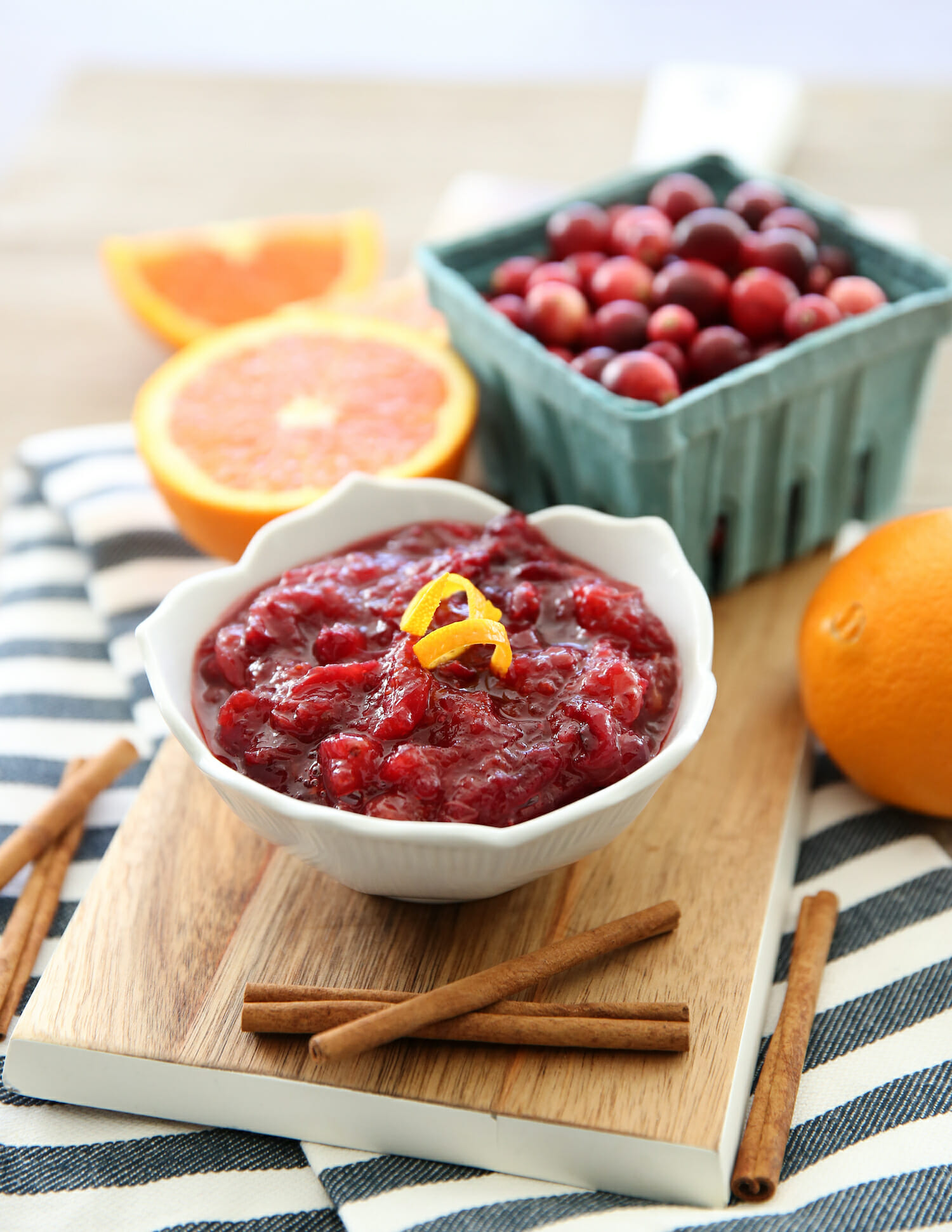 fresh cranberry sauce from our best bites