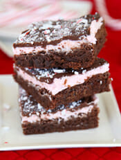 Peppermint Candycane Brownies from Our Best Bites intro