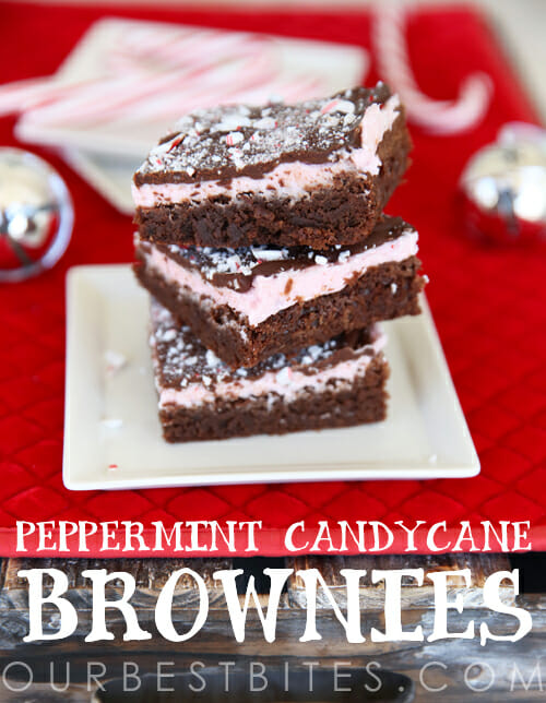 Perfect Peppermint Candycane Brownies from Our Best Bites