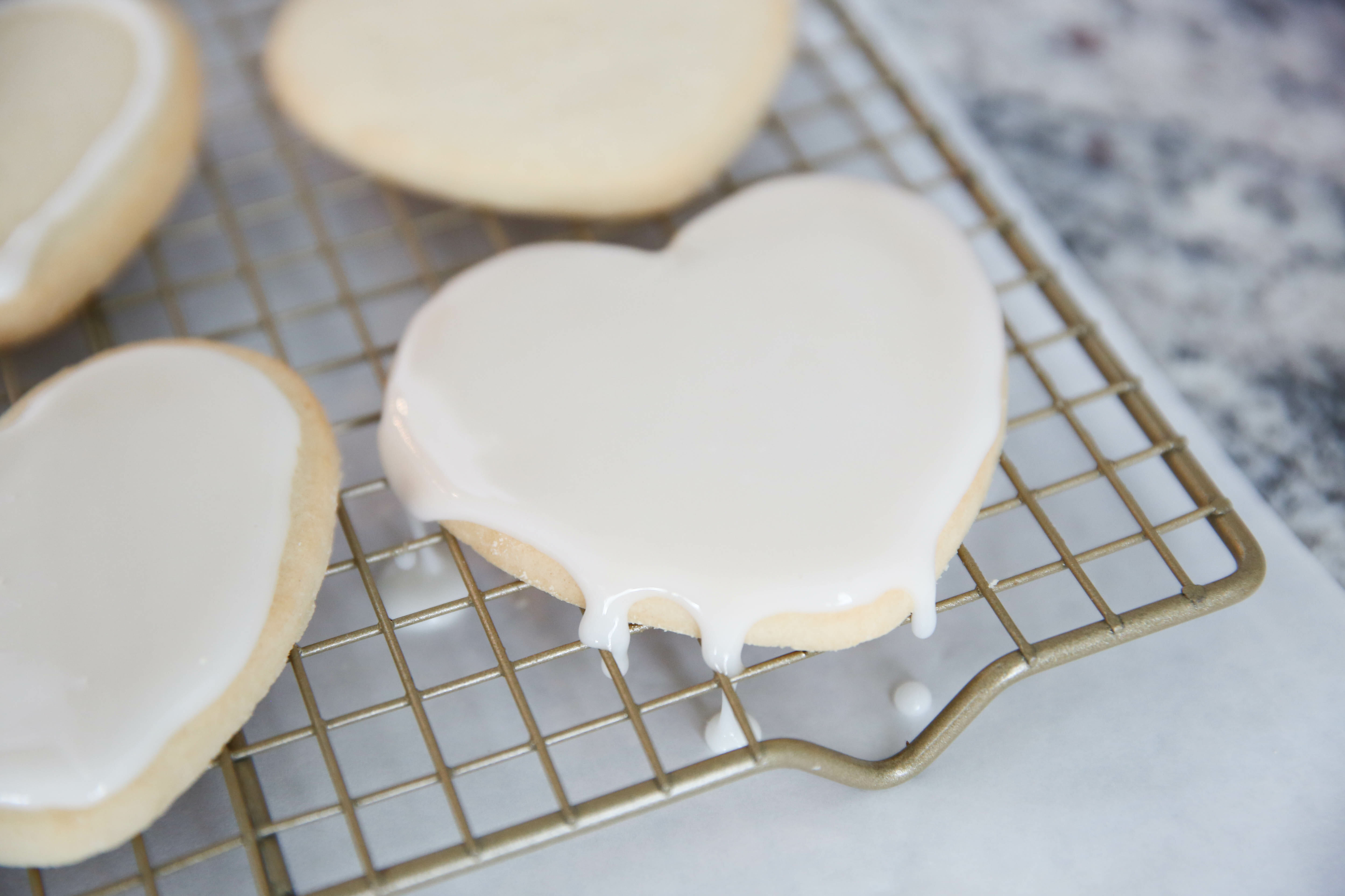 Best Sugar Cookie Icing on heart shaped cookies
