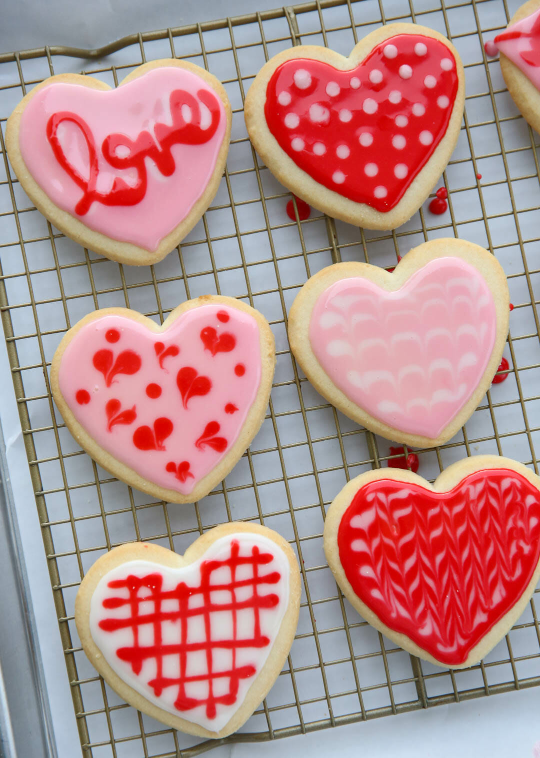 Best Sugar Cookie Icing valentine cookies