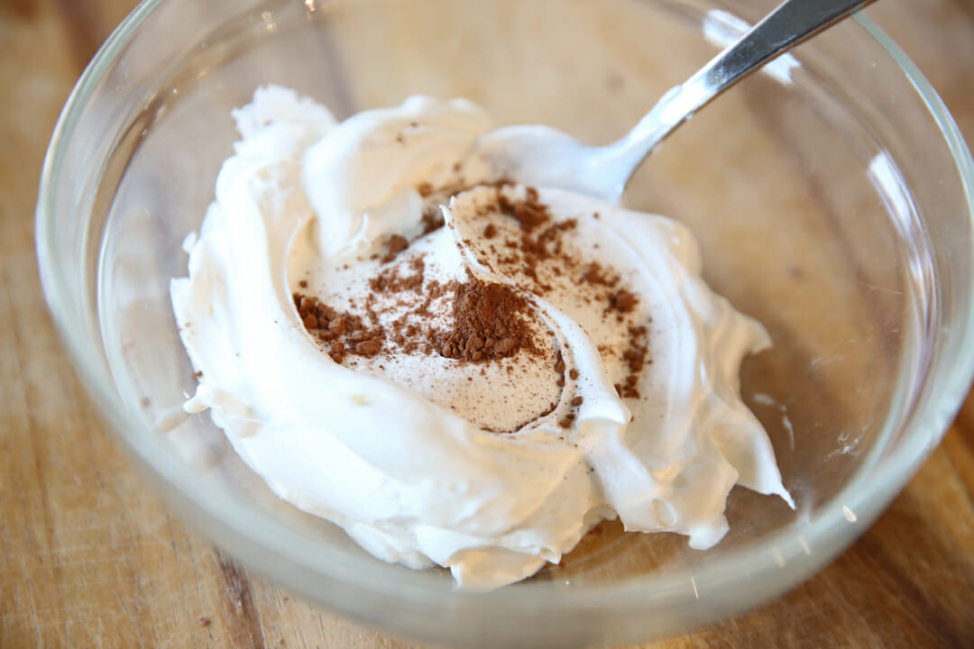 healthy chocolate whipped topping