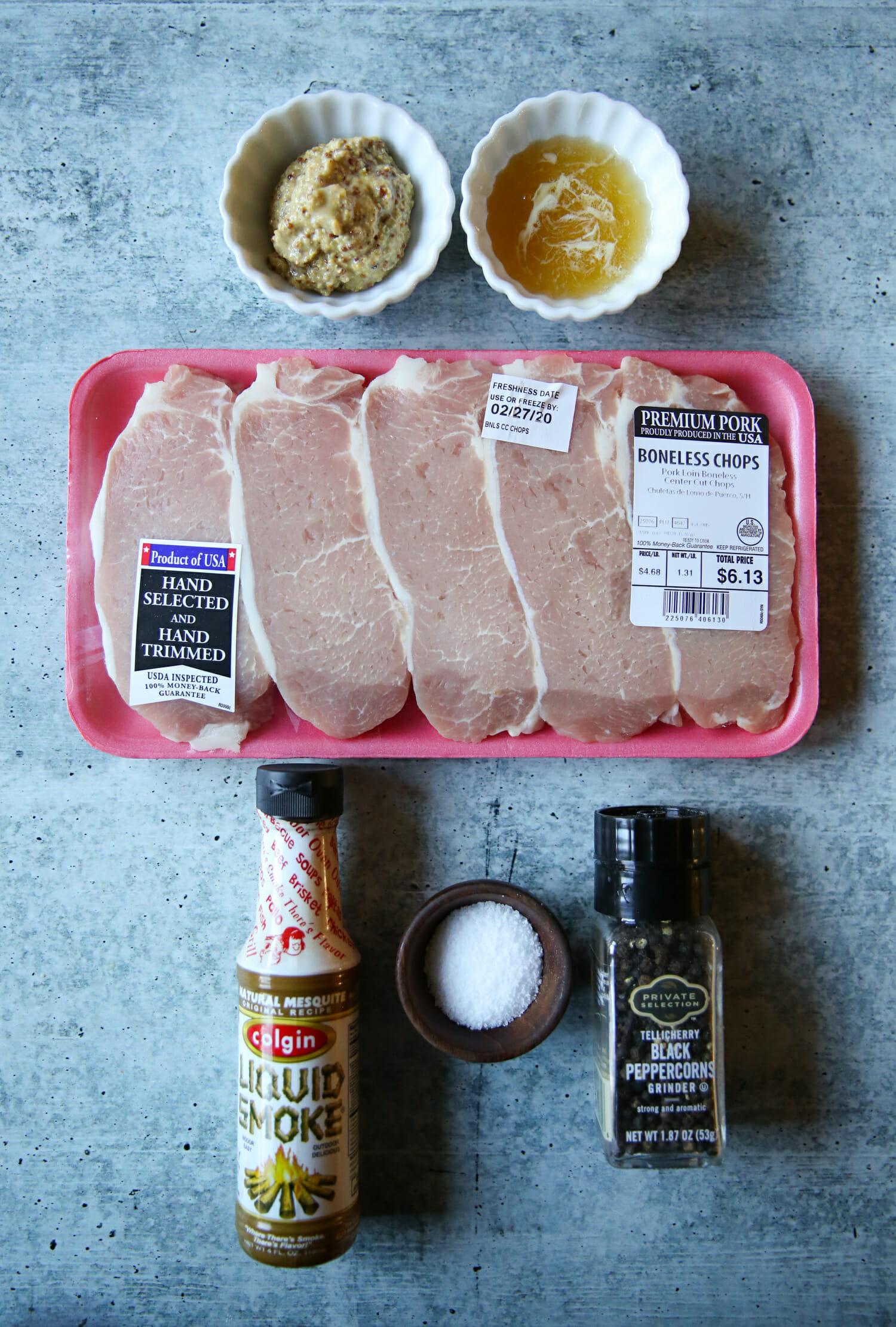 honey mustard pork chops ingredients
