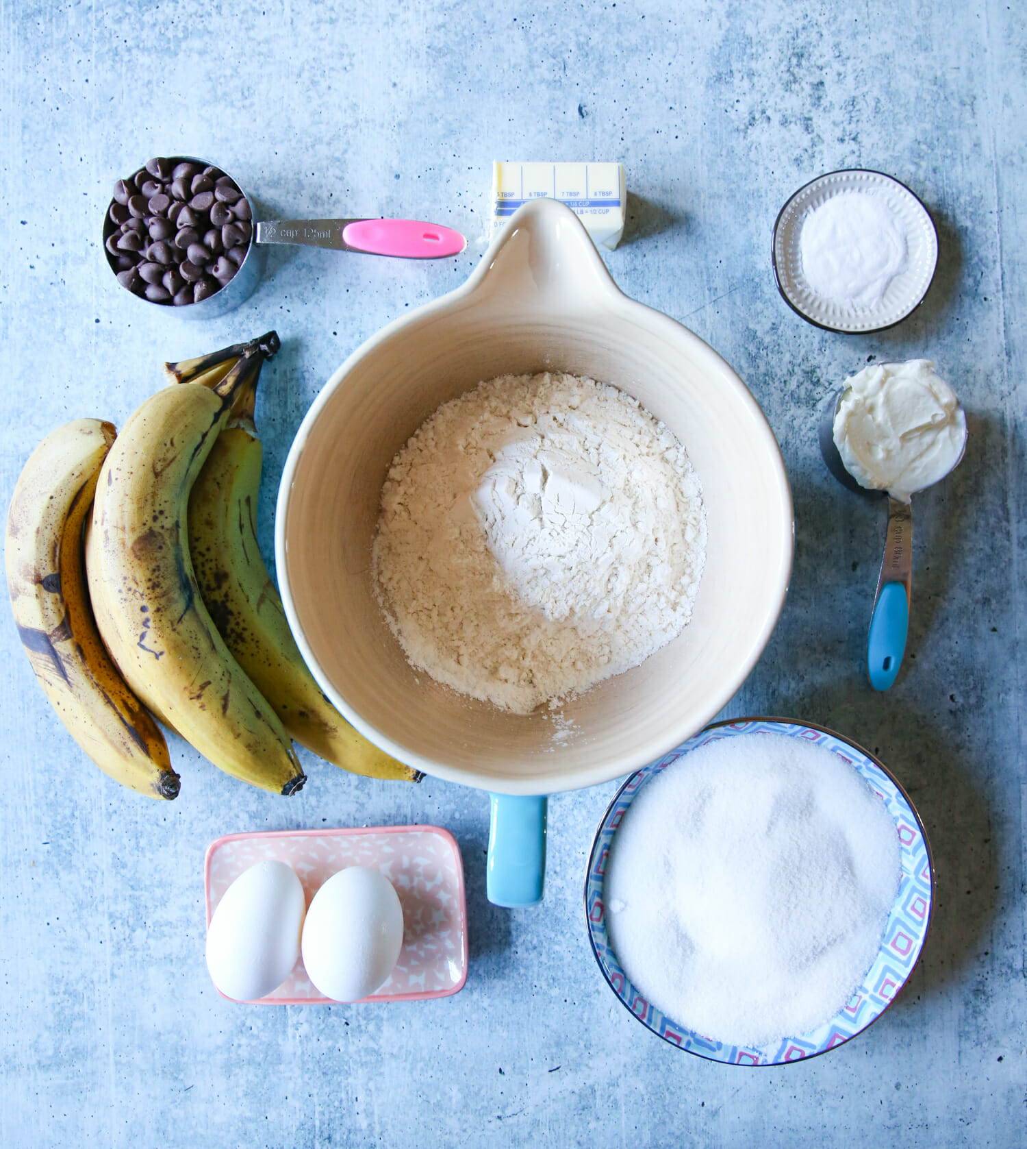 chocolate swirled banana bread ingredients