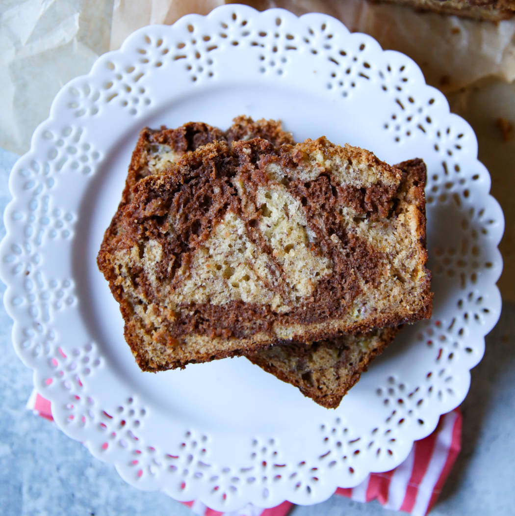 chocolate swirled banana bread