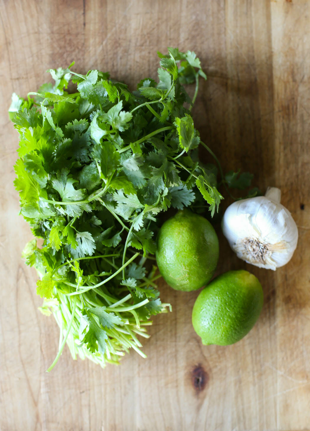 Fresh ingredients for Cafe Rio Copy Cat Creamy Tomatillo Dressing from Our Best Bites