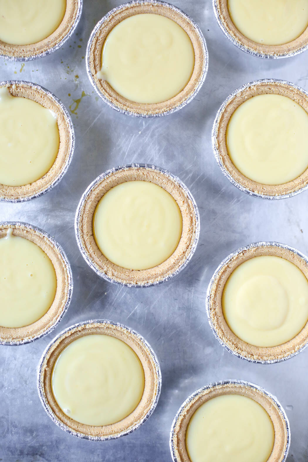 key lime tarts on pan for our best bites