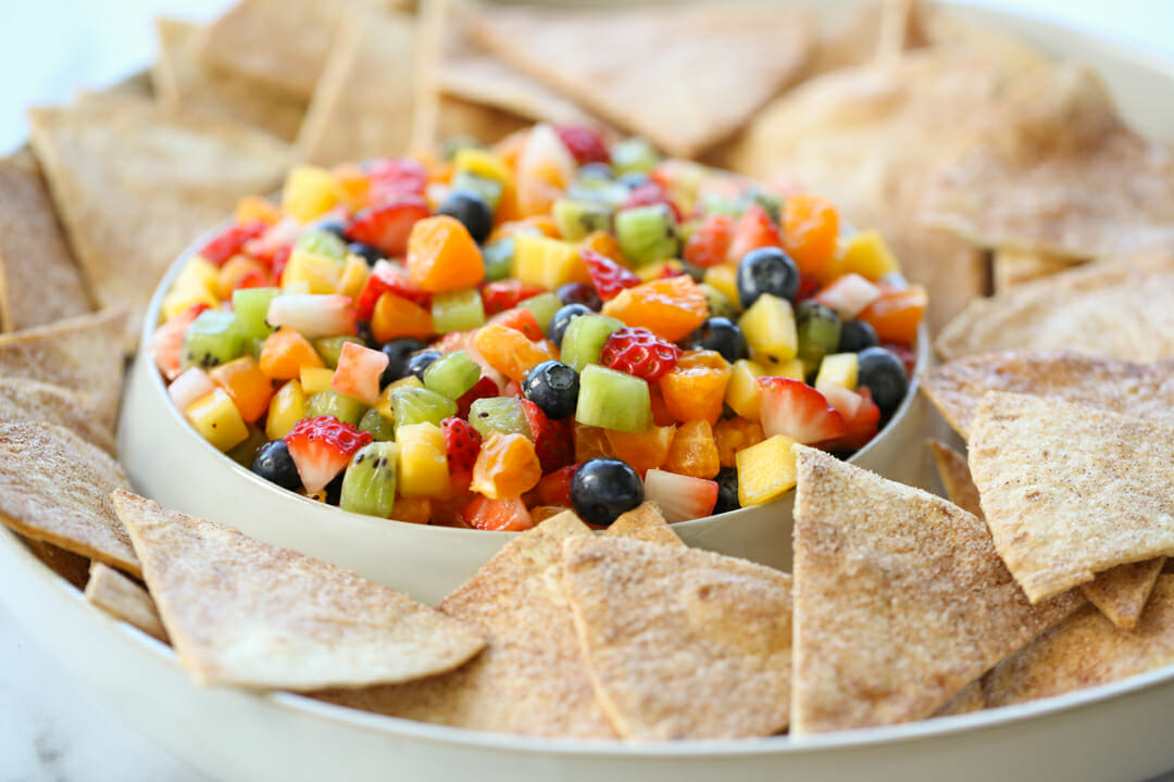 fruit salsa in a bowl