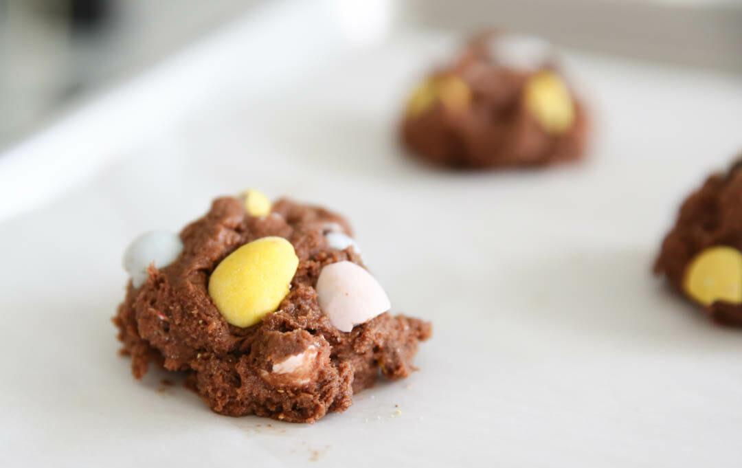 Cadbury Egg Cookies