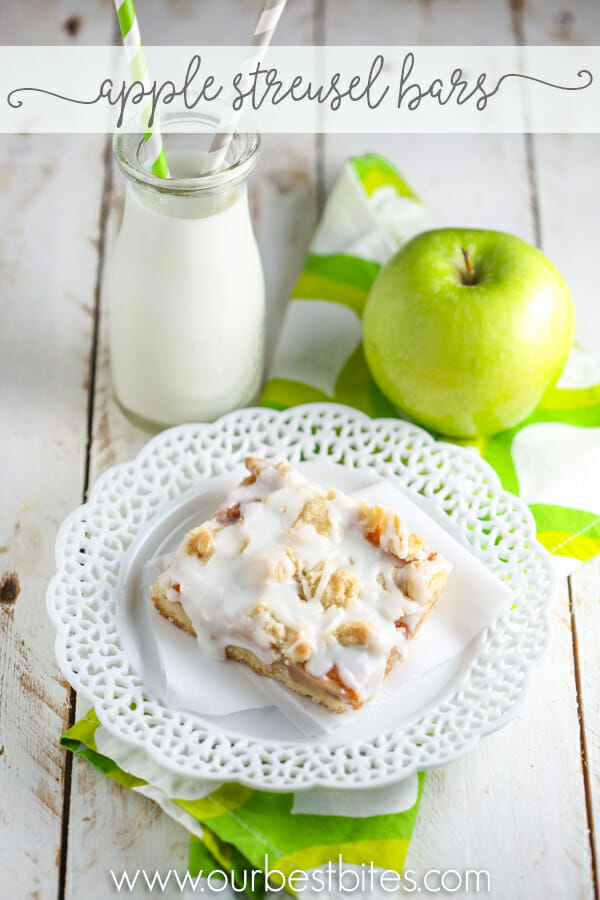 Apple Streusel Bars from Our Best Bites
