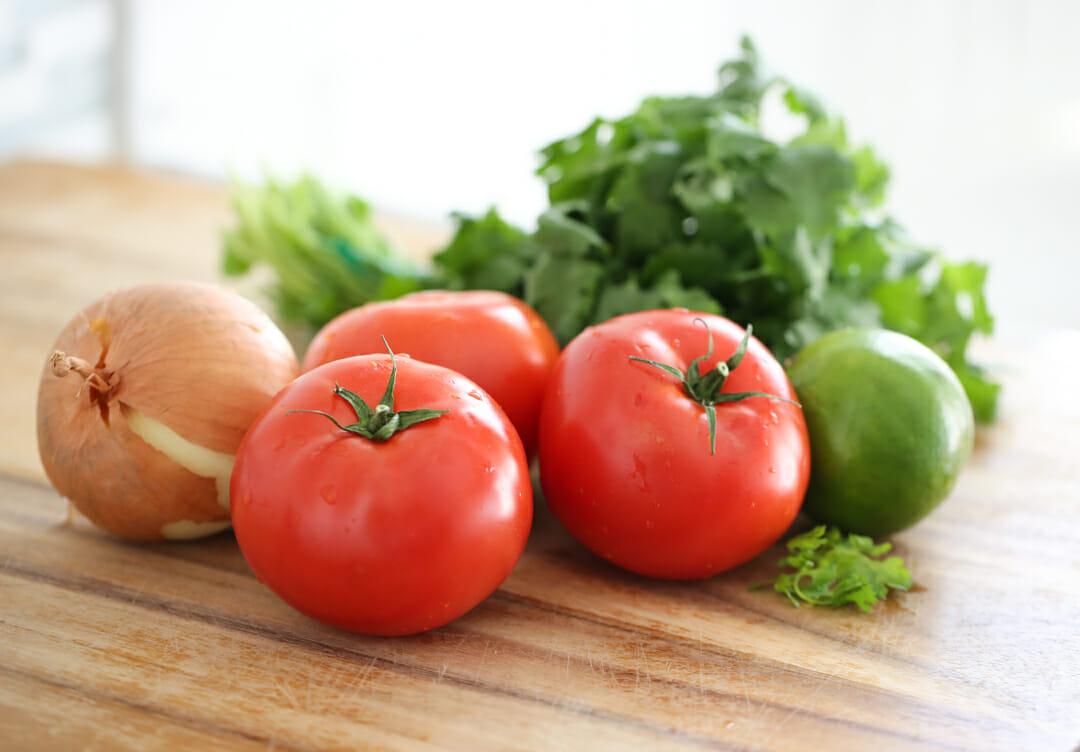tomato onion lime cilantro