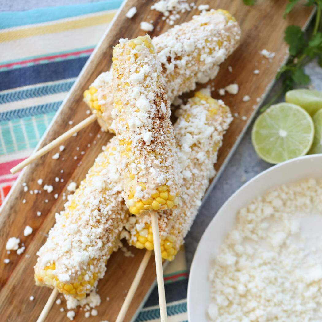Mexican Street Corn on Platter