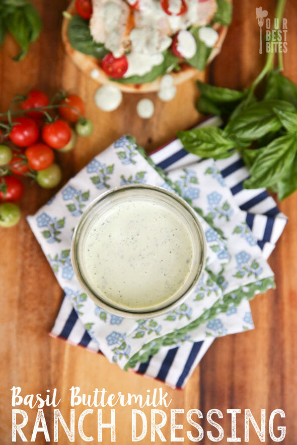 Basil Buttermilk Ranch from Our Best Bites