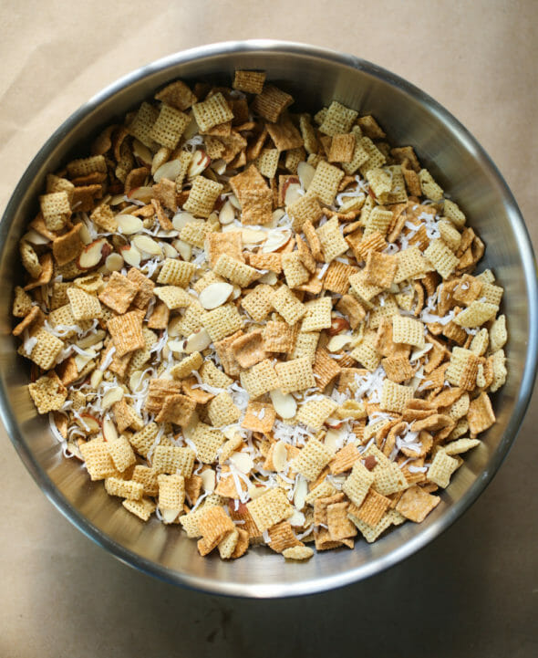 Chewy Almond Coconut Chex Mix-3