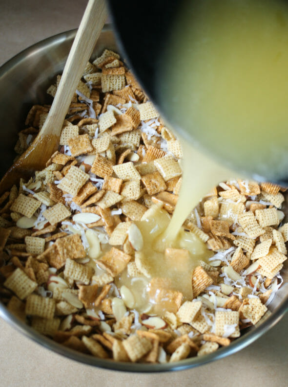Chewy Almond Coconut Chex Mix-4