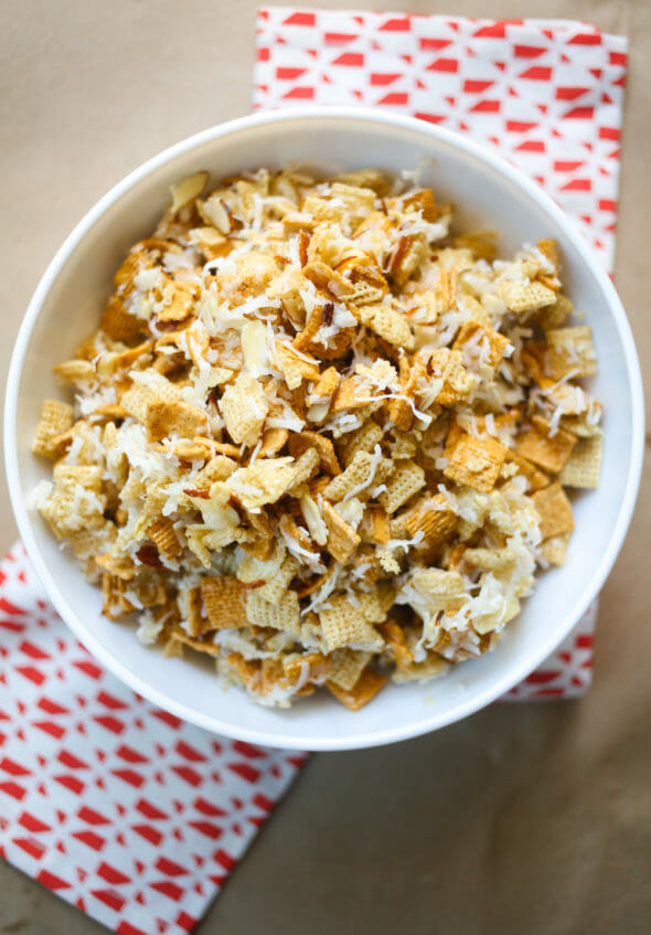 Chewy Almond Coconut Chex Mix-5