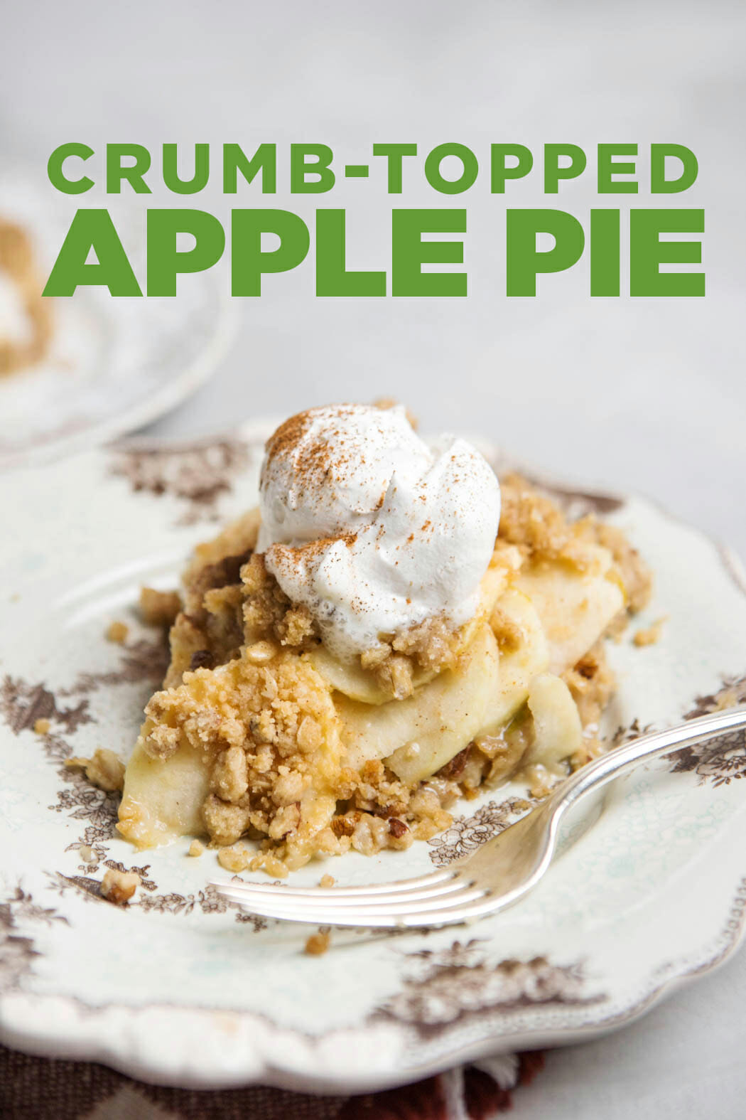 This crumb topped apple pie is a cross between a pie and apple crisp--always a crowd pleaser!