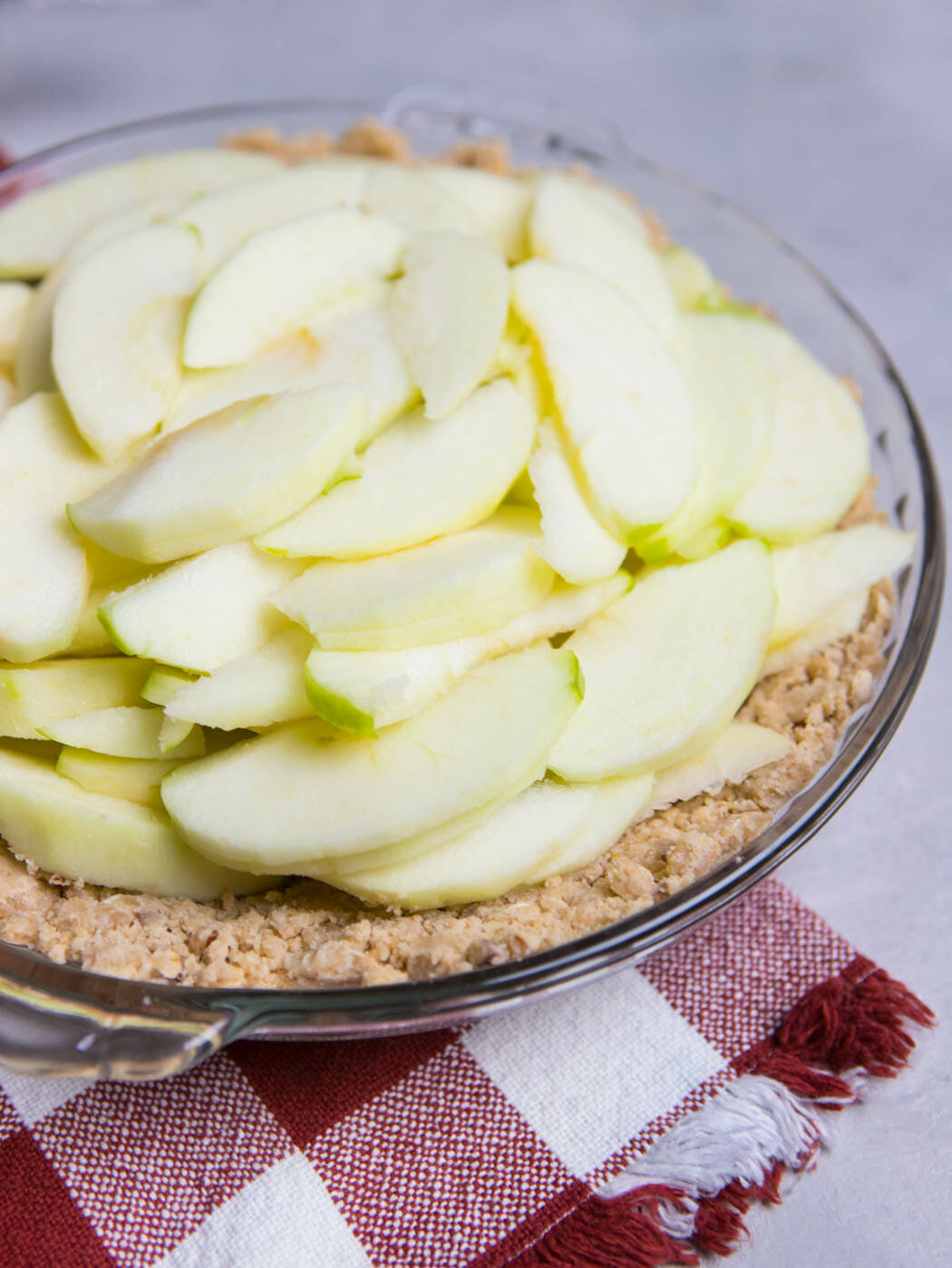 apples in Crumb Topped Apple Pie from Our Best Bites