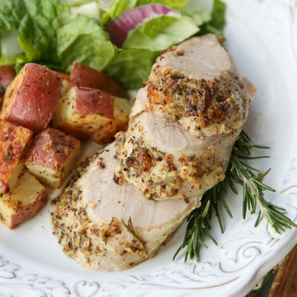 Flashback Friday: Garlic Rosemary Pork Tenderloin