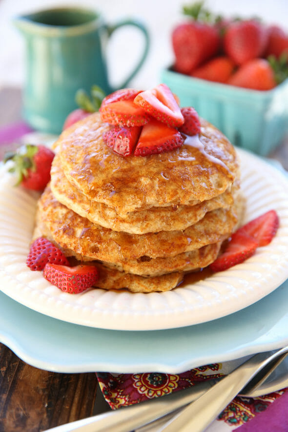 whole grain buttermilk pancakes