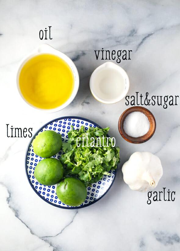 cilantro lime vinaigrette ingredients