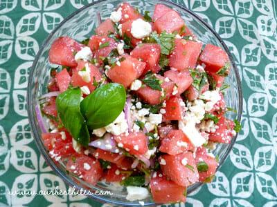 Fresh Herb and Watermelon-Feta Salad