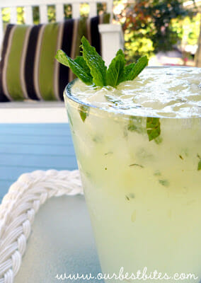 Lime-Mint Spritzer {aka The Virgin Mojito}