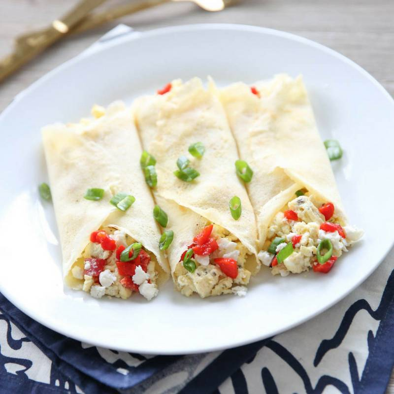 Mediterranean Feta Egg Wraps