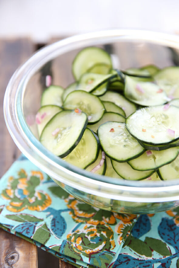 sweet and spicy cucumbers