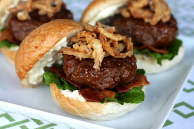 BBQ Bacon Sliders for the Better Homes and Gardens Cook-Off!