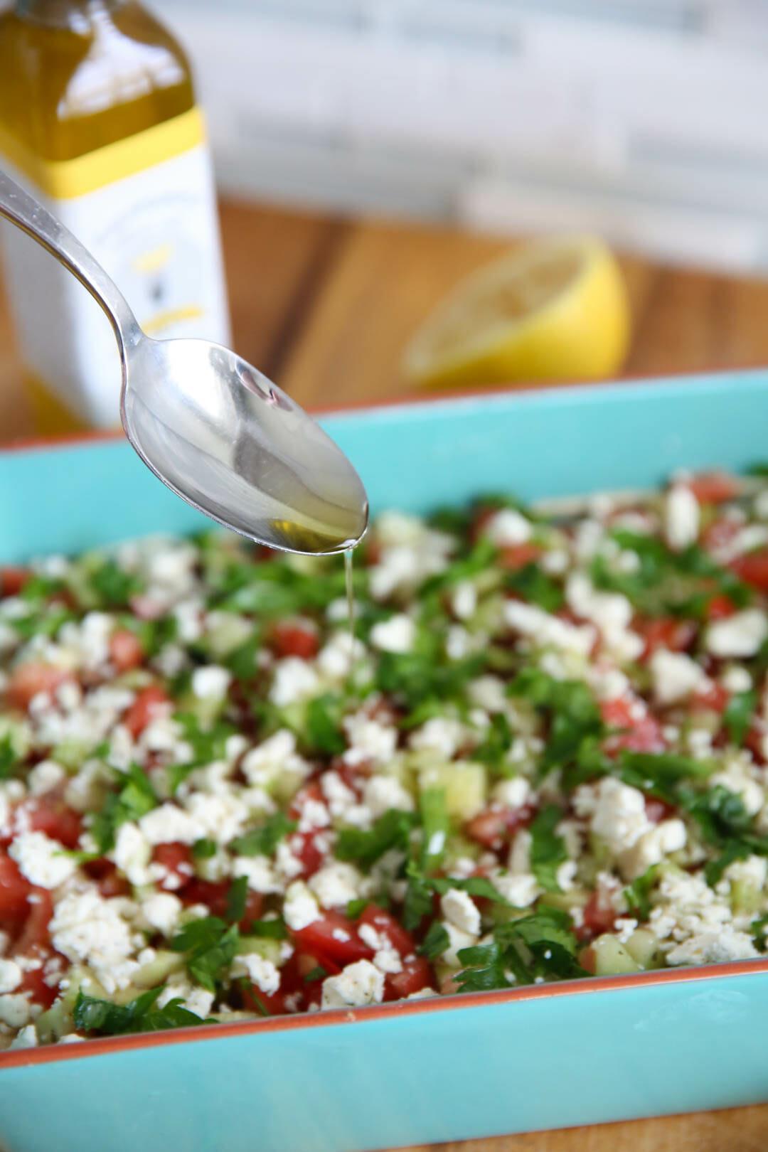 Healthy Greek Seven Layer Dip