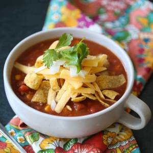 taco soup from our best bites