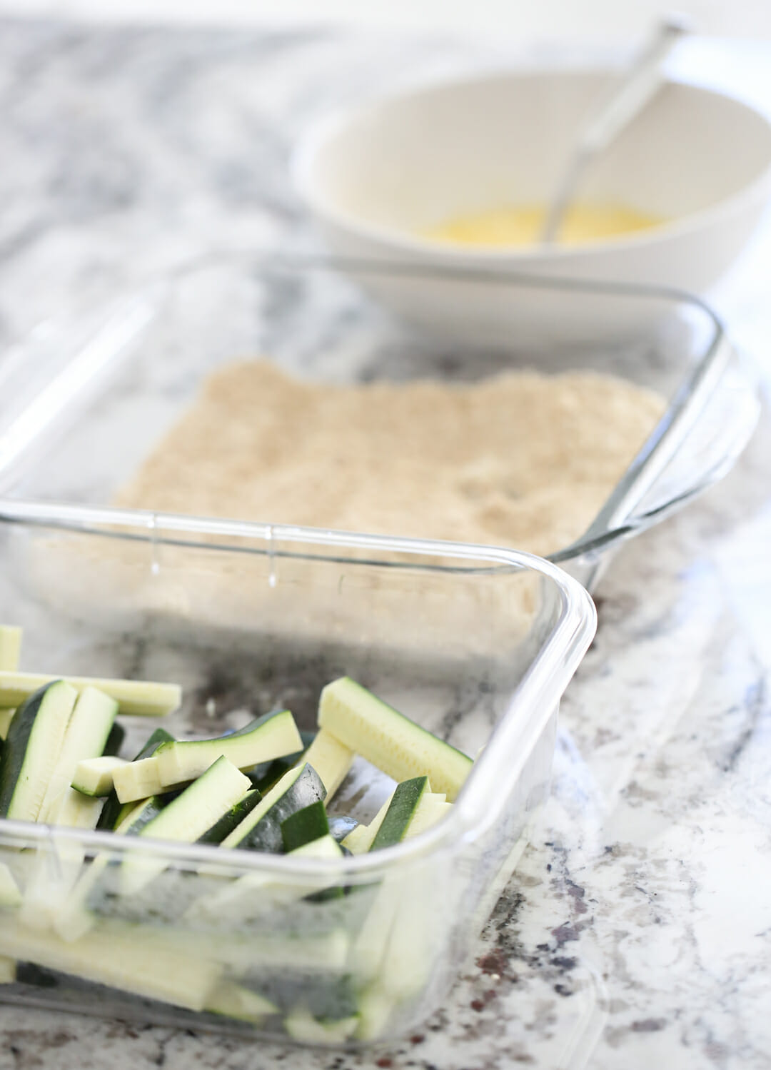 Zucchini fries dipping Station