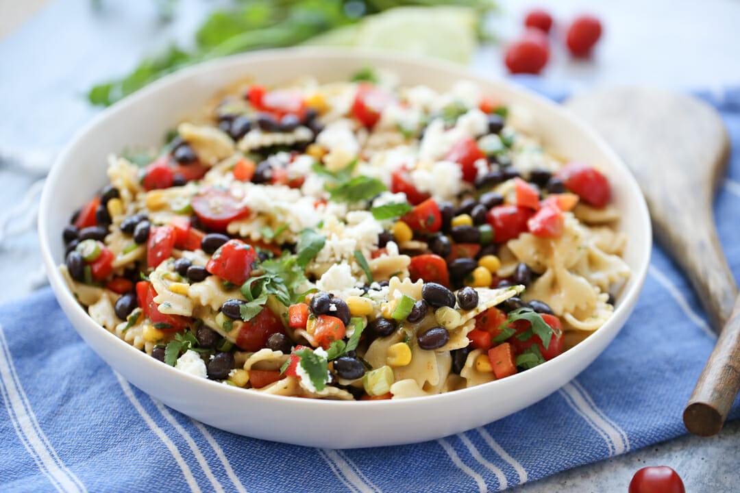 Southwest Pasta Salad in serving bowl