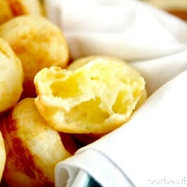 Quick Brazilian Cheese Rolls {Pao de Queijo}