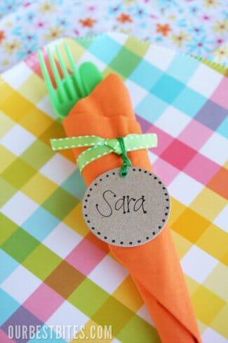 Easter Carrot Napkin Bundles Our Best Bites