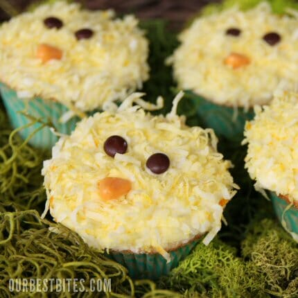 {Easy} Spring Chick Cupcakes