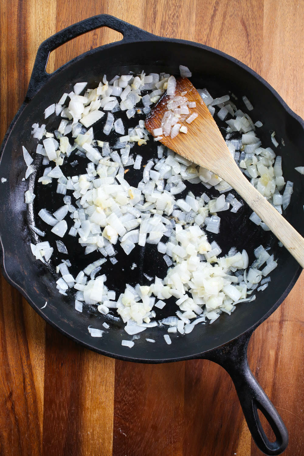 sauté onion and garlic