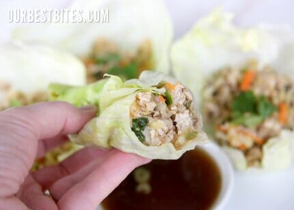 asian lettuce wraps from Our Best Bites