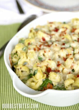 ... baked tortellini with bacon recipes dishmaps baked tortellini with