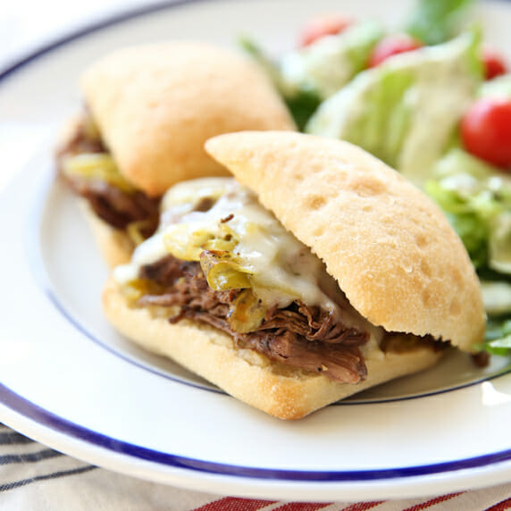 Pepperoncini Beef Sandwiches
